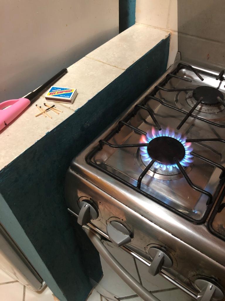 Finally got the gas burner lit after 6 matches.